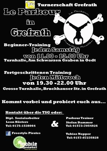 Info-Poster zu Le Parkour in Grefrath